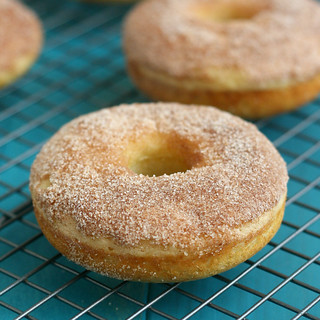 Baked Maple Cinnamon-Sugar Donuts | by Tracey's Culinary Adventures