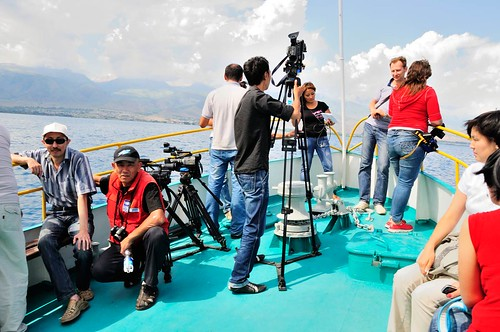 Testing new research equipment on the lake | by UNDP in Europe and Central Asia