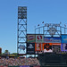 AT&T Park Scoreboard with Glove and Coke Bottle