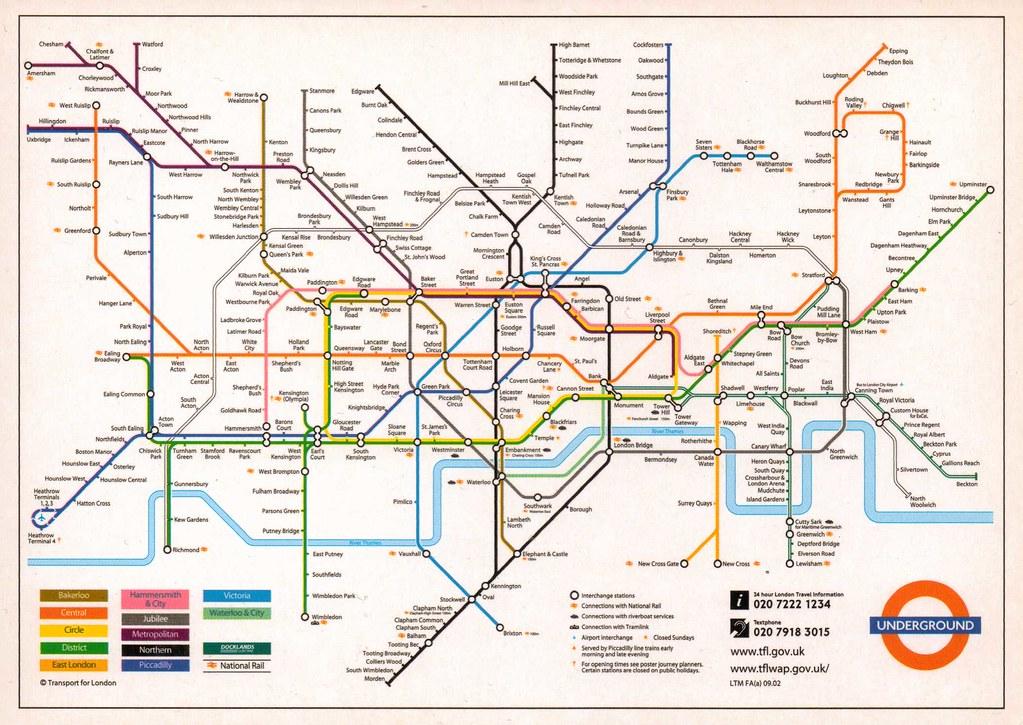 Map Of England Underground.U K London Underground Tube Map England From Constanze Flickr