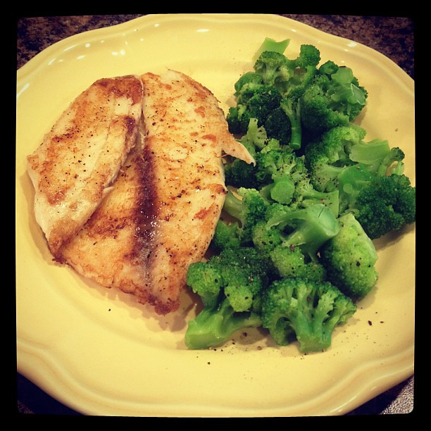 Healthy dinner fish tilapia broccoli diet was really for Fish and broccoli diet
