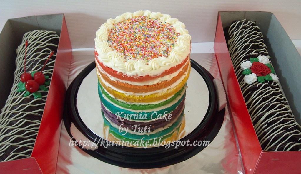 Rainbow Cake N Bolu Kukus Gulung Coklat Agustina Kusuma Astuti