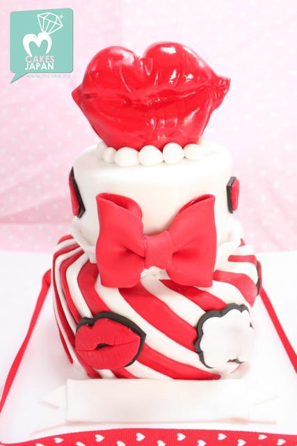 Lips Lips Lips cake | megumi suzuki | Flickr