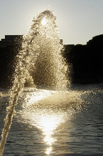 fountain at sunset | by dasar