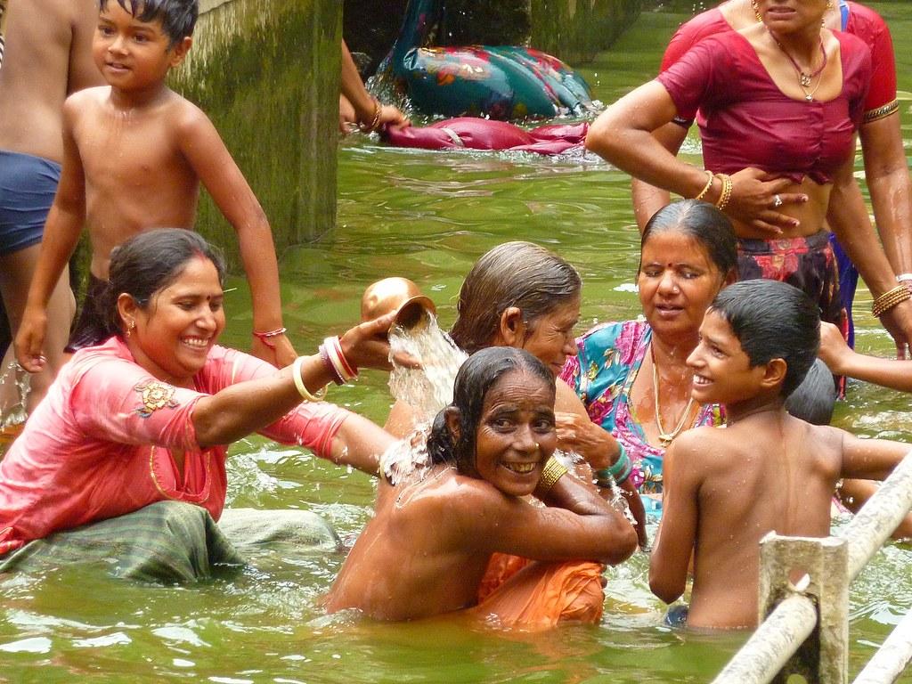 Bathing   by Emiel van den Boomen. Bathing   Monkey temple  Galta temple   Jaipur  India   Emiel van