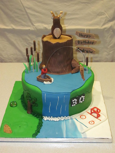 Collage birthday cake Collage birthday cake: hockey ...