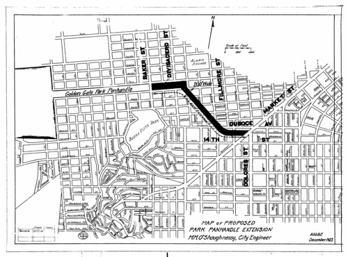 Map of Proposed Park Panhandle Extension (1923) | by Eric Fischer