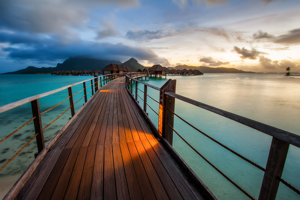 Bora Bora Sunset | Today's shot is another one from the ...