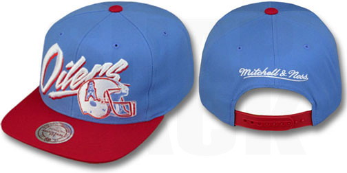 ... Houston Oilers Snapback Hats Mitchell Ness 2T Vice NFL Caps Sky Red  15485c8e1329