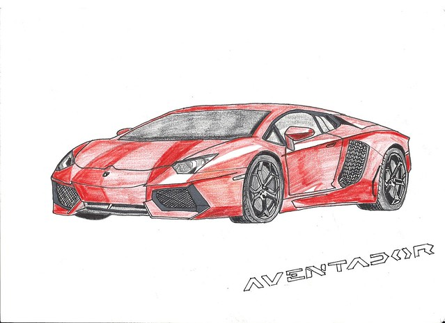 Lamborghini Aventador LP700-4 Drawing | Flickr - Photo ...