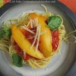 Spaghetti mit Mango-Tomaten-Soße