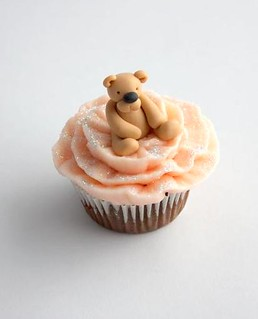 Cute pink teddy cupcake | by Buttercream Bakery