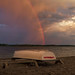 Rainbow at Sunset Over Leslie Spit