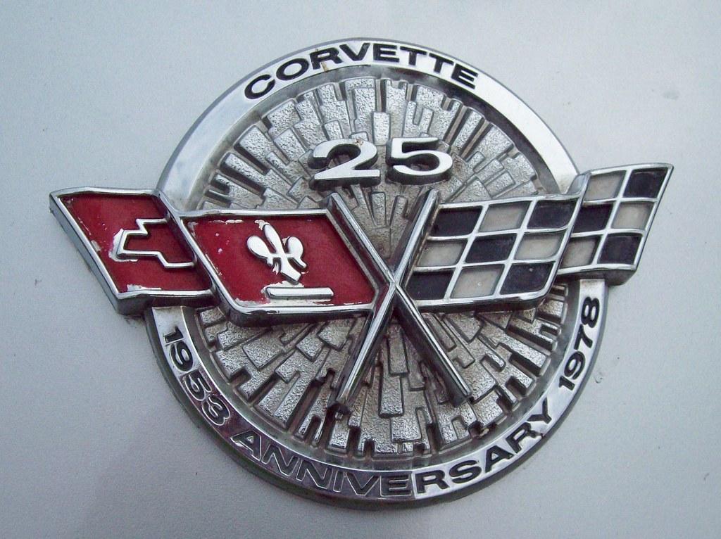 63 Chevrolet Corvette Anniversary Badge 1978 Chevrolet