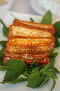 fried haloumi cheese | by David Lebovitz
