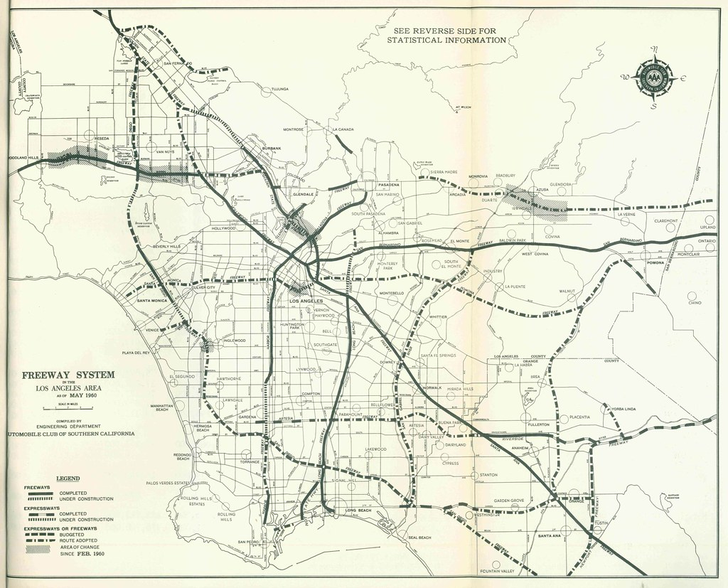 Freeway system in the los angeles area 1960 from freeway flickr freeway system in the los angeles area 1960 by eric fischer publicscrutiny Images