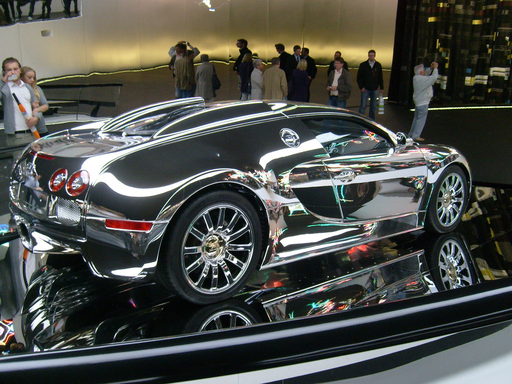 Chrome Bugatti Veyron Bruno Kussler Marques Flickr