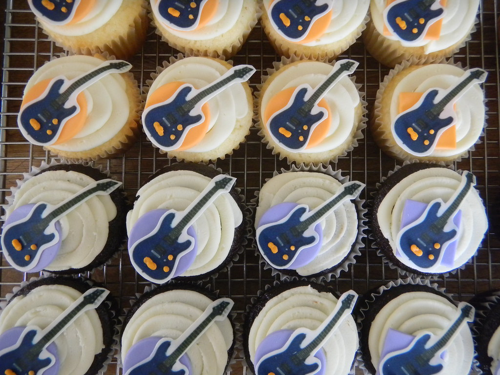 Electric Guitar Cupcakes Meredith Maxwell Flickr