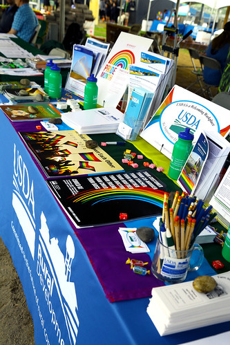 A USDA Rural Development booth at the Pride Festival