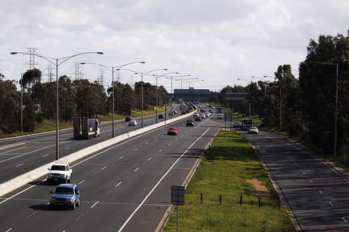 Western Ring Road Greensborough bound at Sydney Road