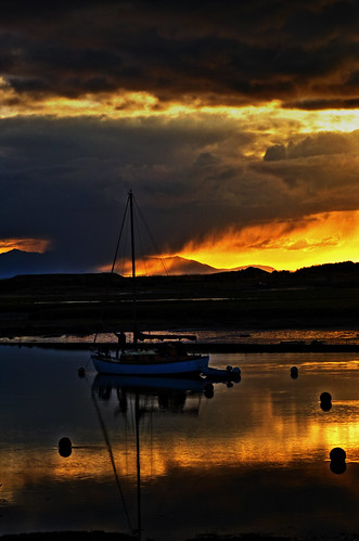 Irvine harbour Sunset 2 | by g crawford