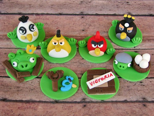 Angry Birds Cupcake Toppers | by Lynlee's