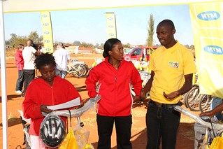 Etana & MTN Qhubeka Cycling team handover Qhubeka bikes to the Wolf Community of Vosloorus | by Etana Insurance