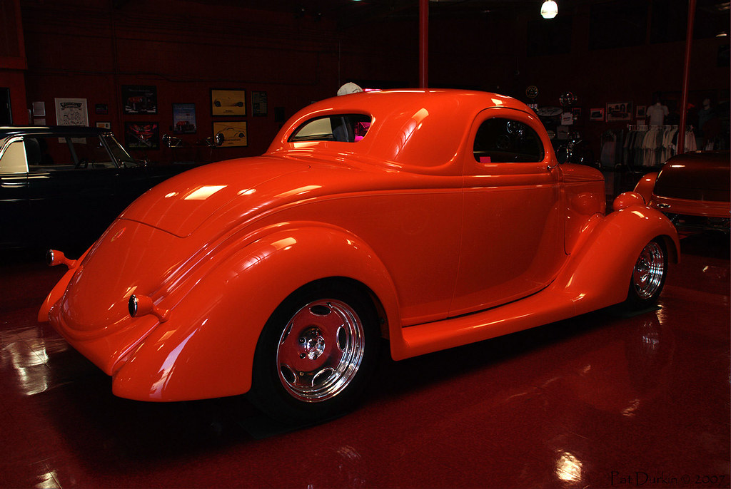 1936 ford 3 window coupe orange rvr dark as a cave for 1936 3 window coupe