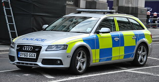 Police Demonstrator / City of London Police / Audi A4 / Roads Policing Unit / OY60 GGX | by Chris' 999 Pics