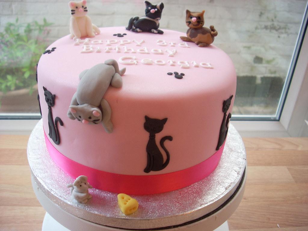 A Cat Lovers Birthday Cake Honeybunch Cake Company Flickr