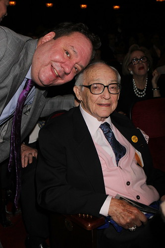 James L. Nederlander with James M. Nederlander, for whom the award has been named. | by Jimmy Awards