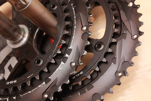 SRAM Red regular and pre-production chainrings | by egocyclic