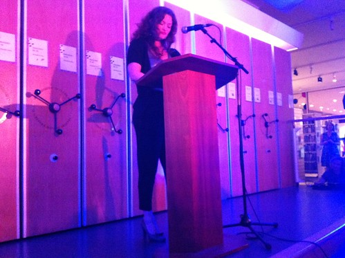 Jennifer Cooke reading at the In the Company of Ghosts launch event | by Dradny