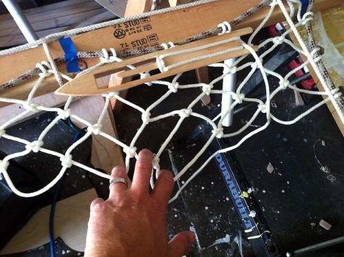 net outrigger trampoline in progress