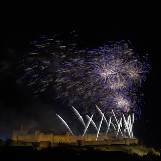 Fireworks in Carcassonne | by Davicl