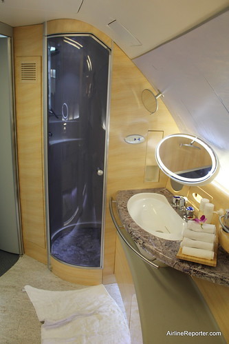 Emirates Airbus A380 Shower Suite | by AirlineReporter.com