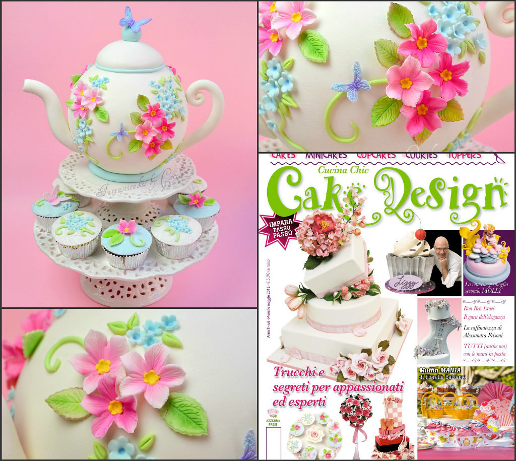 My Spring Teapot Cake for Cake Design Magazine (Italy, n.6… | Flickr