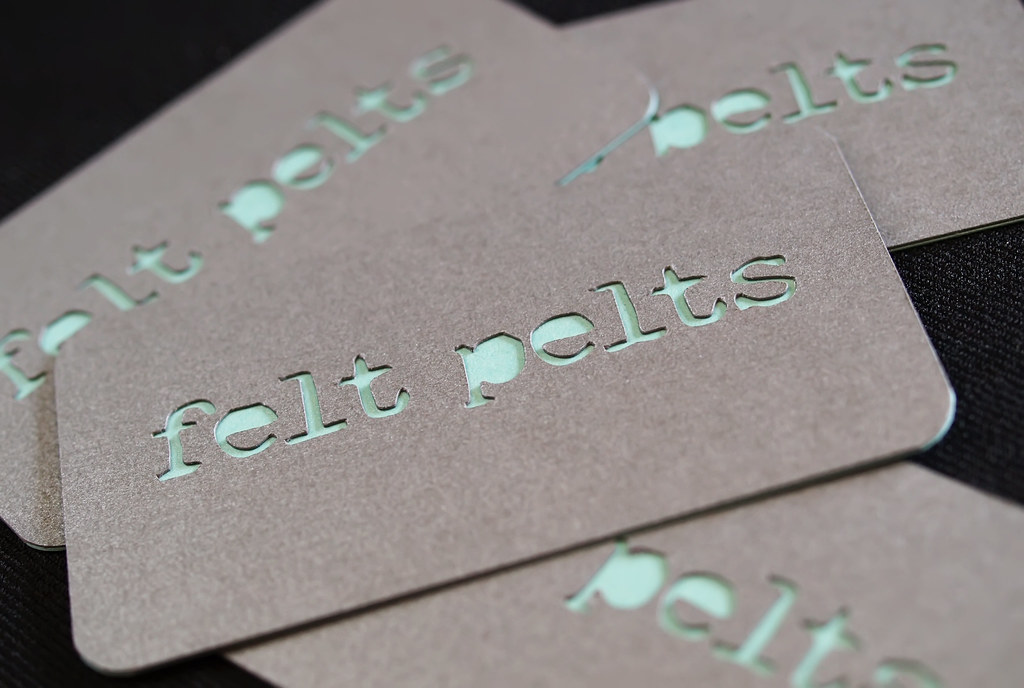 Custom Die Cut Business Cards Felt Pelts