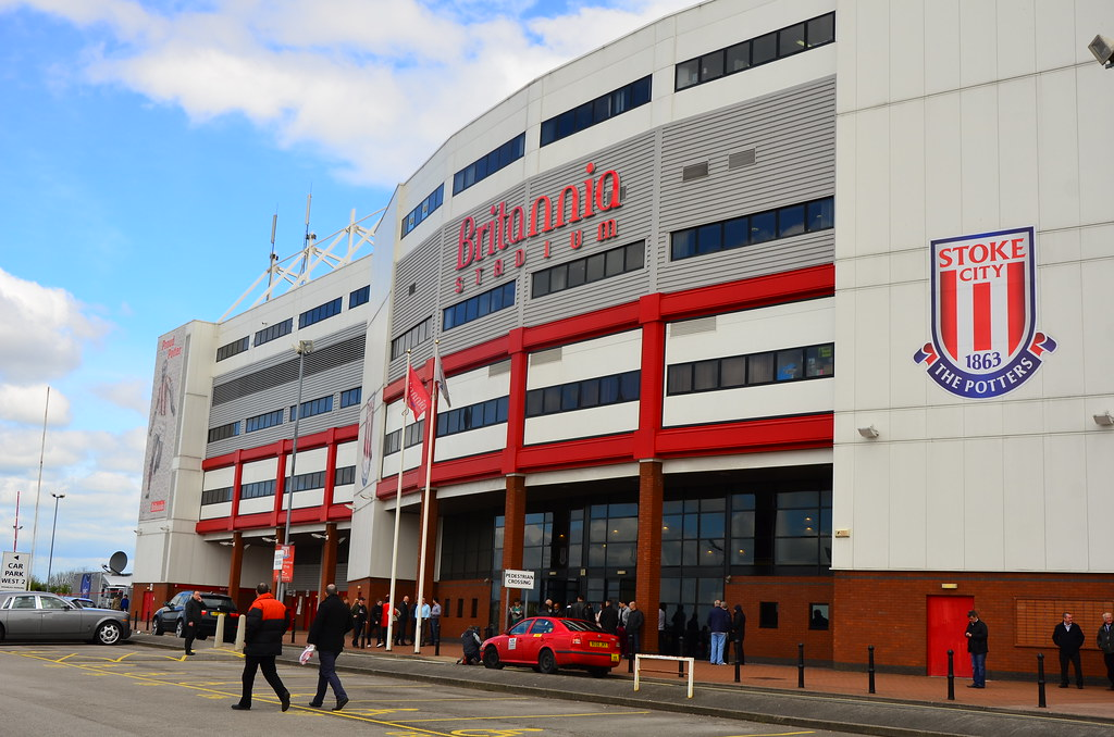 Stoke City football club is a professional English football club, which plays in the Premier League. Based in Stoke-on-Trent in England, the team's home stadium has been the Bet Stadium since
