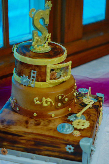 Steampunk Wedding Cake Stand