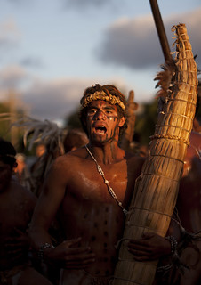 Man With Totora Boat During Tapati Festival, Easter Island, Chile | by Eric Lafforgue