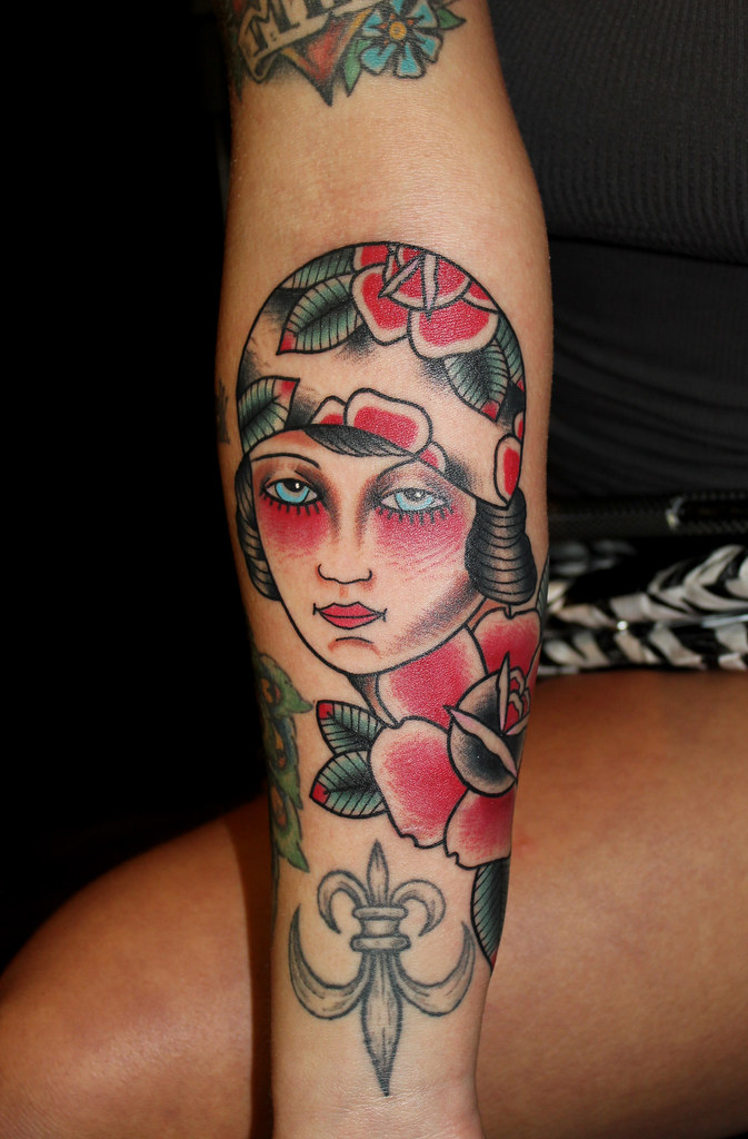 gypsy girl tattoo on christy mack by myke chambers flickr