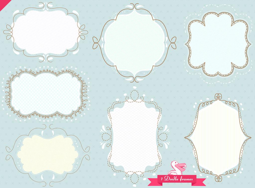 ... doodle frame pack 4 | set of 7 doodled frames, a link c… | Flickr