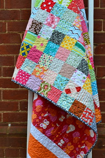Scrappy patchwork picnic quilt | by sew&sews