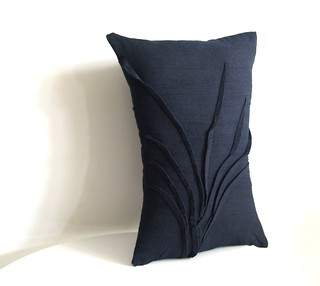 grass accent pillow - midnight | by Yorktown Road