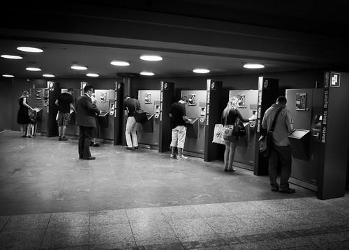 In front of the ticket machine, everyone is equal. | by nicolasheinzelmann