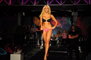 blond in lingerie on a runway | by -nickon-
