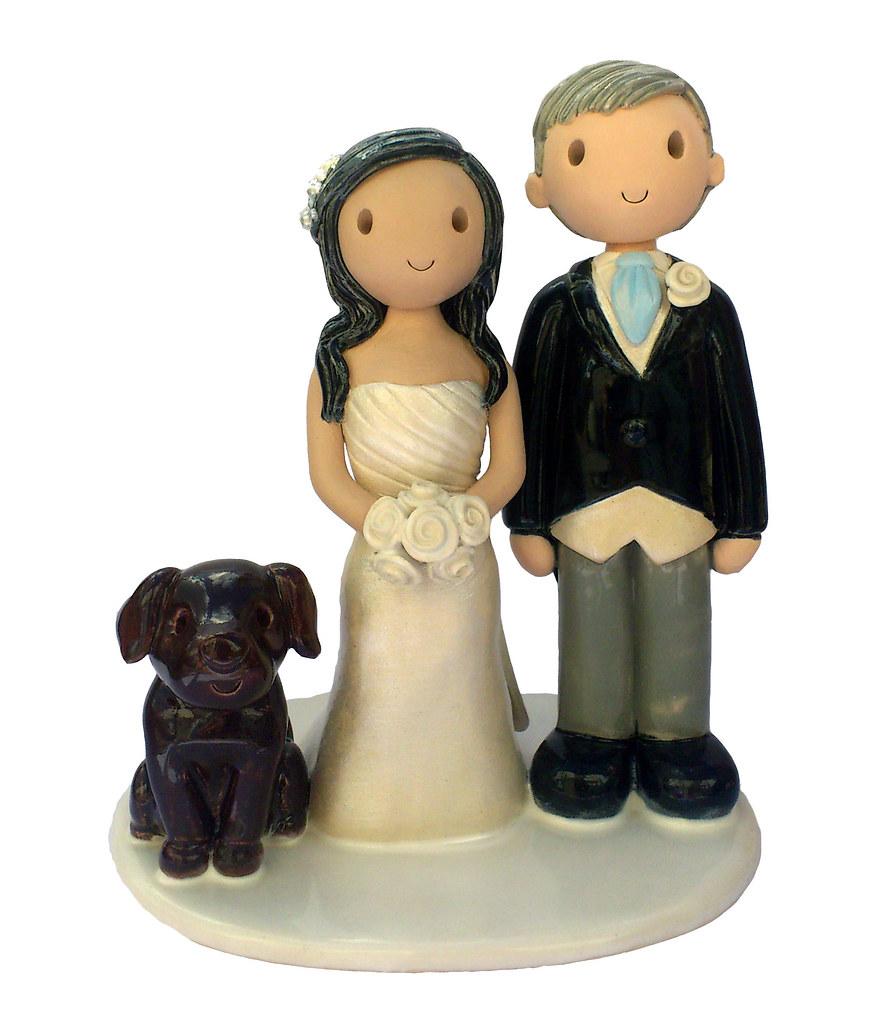 Black Lab Wedding Cake Topper