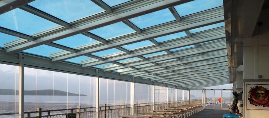 Techos deslizables y cortinas de vidrio cerramiento - Cristales para techos ...