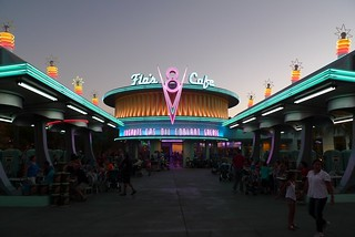 Flo's Cafe, Cars Land, Disneyland California Adventure | by Kevitivity